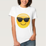 Lächelndes Gesicht mit Sonnenbrillen cooles Emoji T Shirt