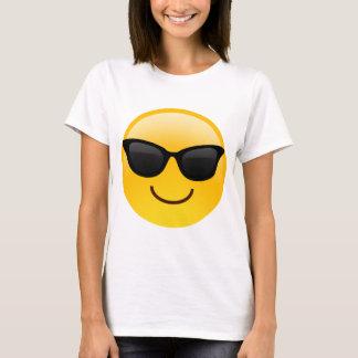 Lächelndes Gesicht mit Sonnenbrillen cooles Emoji T-Shirt