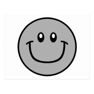 Lächelndes Gesichts-Postkarten-Grau 0003 Postkarte