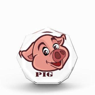 Lächelndes glückliches Schwein-Gesicht Auszeichnung