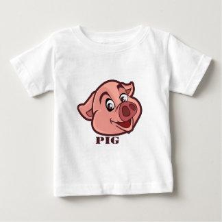 Lächelndes glückliches Schwein-Gesicht Baby T-shirt