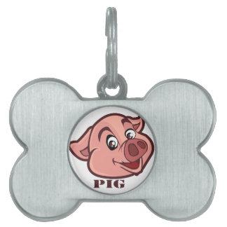 Lächelndes glückliches Schwein-Gesicht Tiermarke