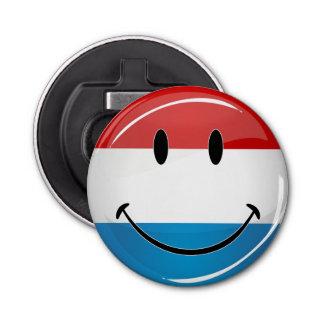 Lächelndes Luxemburg kennzeichnen Runder Flaschenöffner