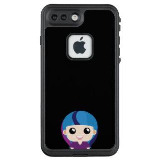 Lächelndes Mädchen mit bunter Frisur LifeProof FRÄ' iPhone 8 Plus/7 Plus Hülle