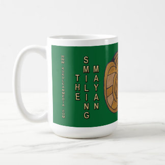 LÄCHELNDES MAYAmedaillon GRÜNER MITTERNACHTSCANCUN Kaffeetasse