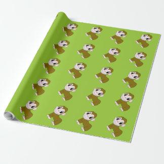 Lächelndes Schimpanse-Packpapier Geschenkpapier