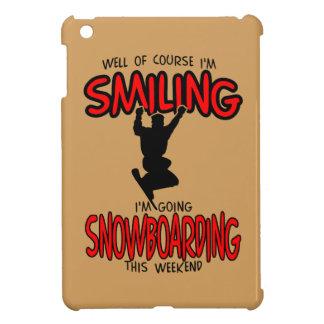 Lächelndes SNOWBOARDING-Wochenende 2.PNG iPad Mini Hülle
