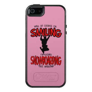 Lächelndes SNOWBOARDING-Wochenende 2.PNG OtterBox iPhone 5/5s/SE Hülle