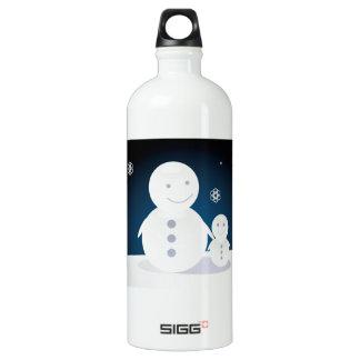 Lächelndes Snowpeople Wasserflasche