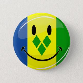 Lächelndes St. Vincent und Grenadinen-Flagge Runder Button 5,1 Cm