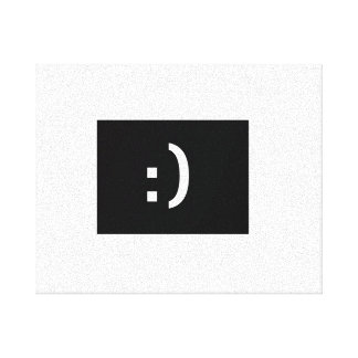 Lächelngesichts-Leinwand Gespannter Galerie Druck