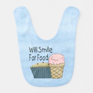 Lächelt für Nahrung Babylätzchen