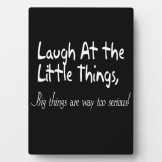 Lachen an den kleinen Sachen, motivierend Fotoplatte