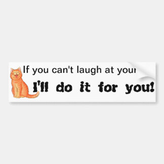 Lachen an selbst auto sticker
