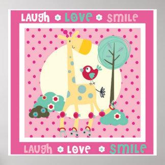 Lachen, Liebe, Lächelnwanddekor Posterdrucke