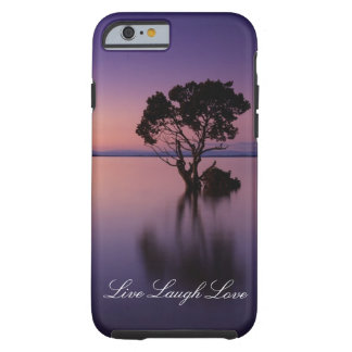 Lachen-Liebe-leben lila Tough iPhone 6 Hülle