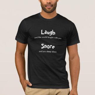 Lachen - Schnarcher auf T - Shirt