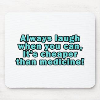 Lachen Sie wenn Sie kann, billiger als Medizin! Mauspads