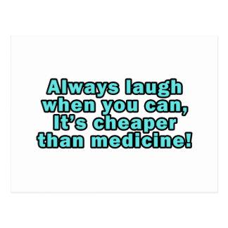 Lachen Sie wenn Sie kann, billiger als Medizin! Postkarten
