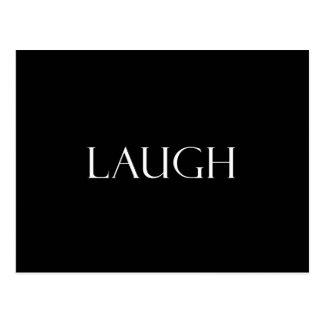 Lachen zitiert inspirierend Gelächter-Zitat Postkarte