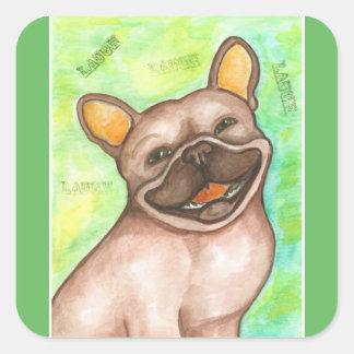 Lachende Aufkleber der französischen Bulldogge
