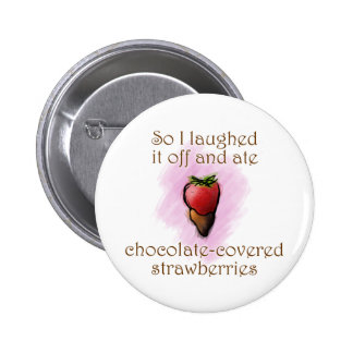 Lachende Erdbeeren Runder Button 5,1 Cm