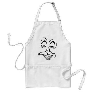 Lachende Gesichts-Karikatur Schürze