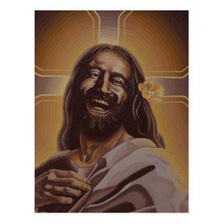 Lachende Jesus-Postkarte Postkarte