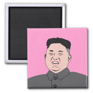 Lachende Kim Jong-UNO Quadratischer Magnet