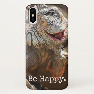 Lachende Leguan-Geschenke iPhone X Hülle