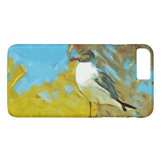 Lachende Möve auf Pier-abstraktem Impressionismus iPhone 7 Plus Hülle
