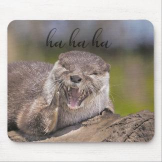 Lachende Otter-Mausunterlage Mousepad