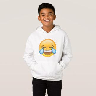 Lachende schreiende Risse von Freude emoji Hoodie