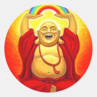 Lachender Buddha-Aufkleber