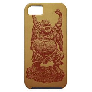 Lachender Buddha (dunkelrot) iPhone 5 Etuis