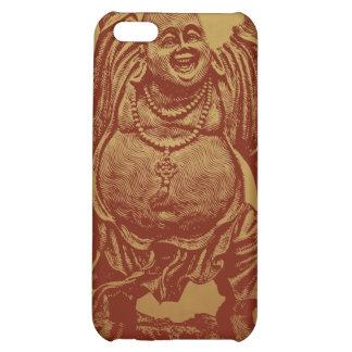 Lachender Buddha dunkelrot