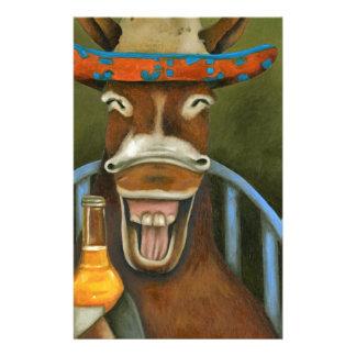 Lachender Esel Briefpapier