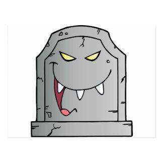 Lachender Grabstein-Cartoon-Charakter Postkarten
