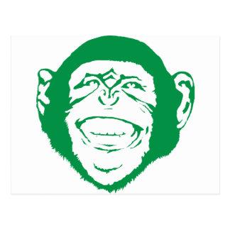 Lachender Schimpanse Postkarte