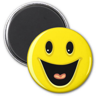 Lachender Smiley Runder Magnet 5,7 Cm
