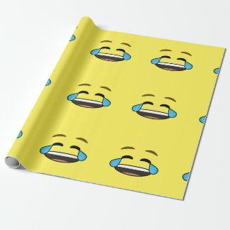 Lachendes Emoji Geschenkpapier