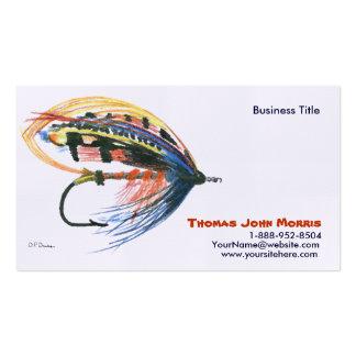 Lachse fliegen Fischen Köder-Visitenkarte Visitenkarten