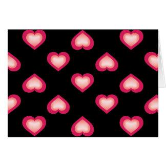 Lachse verblassen Herz-Muster Karte