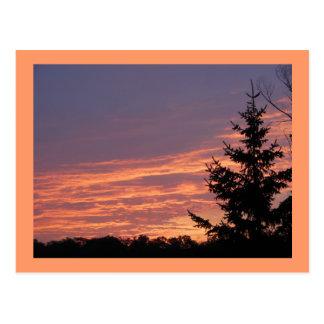 Lachssonnenaufgang Postkarte