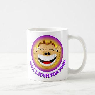 Lacht für Nahrung Kaffeetasse