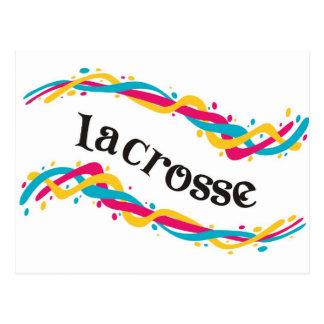 Lacrosse-Drehungen Postkarte