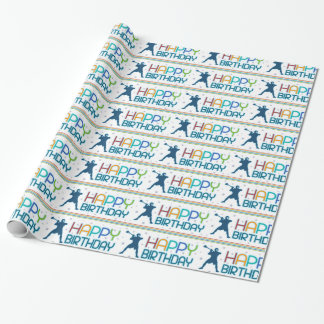 Lacrosse-Geburtstagsgeschenkverpackungspapier Geschenkpapier