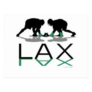Lacrosse-Jungen-LOCKERES Grün Postkarte