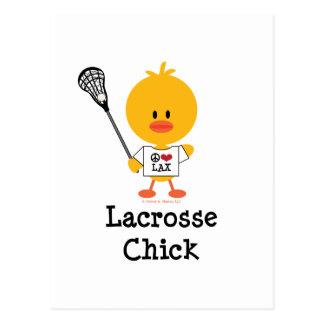 Lacrosse-Küken-Postkarte Postkarte