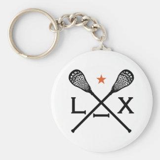 Lacrosse locker standard runder schlüsselanhänger
